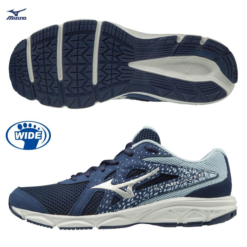 MIZUNO STARGAZER 2 女鞋 慢跑 路跑 寬楦 3E 耐磨 透氣 一般 藍【運動世界】K1GA205114