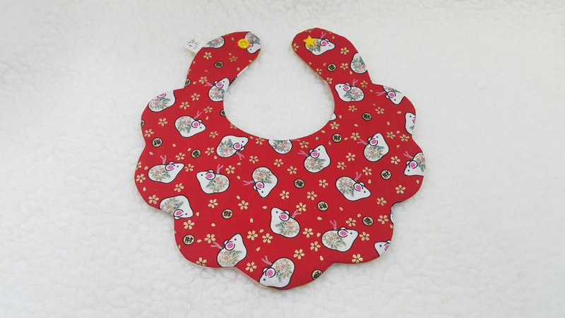 鼠寶鼠年限定款  小花兜/寶寶圍兜/口水巾