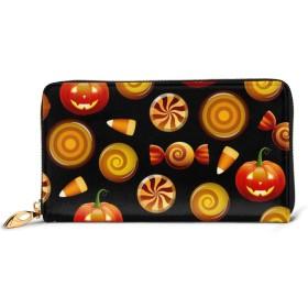 ハッピーハロウィン レディース 財布 カワイイ 長財布 カード 本革 大容量 12枚 磁気防止 ギフトボックス付き