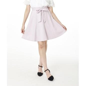 【50%OFF】 パターン フィオナ リボンストーン付きハギスカート レディース ピンク S 【PATTERN fiona】 【セール開催中】