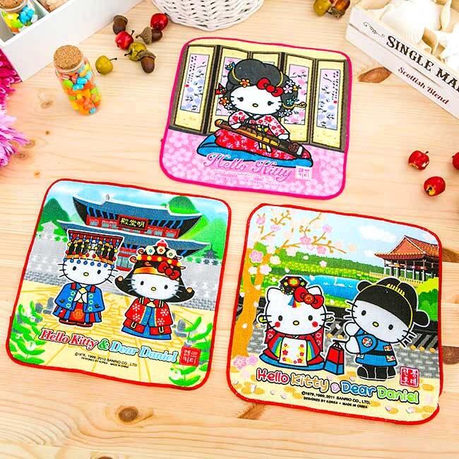 日本hello kitty & dear daniel 小方巾 / 手帕巾