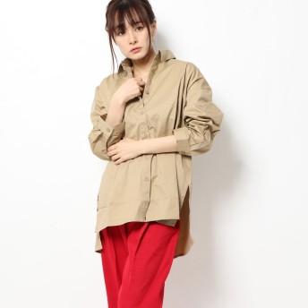 スタイルブロック STYLEBLOCK 綿ブロードバックスリットシャツ (ベージュ)