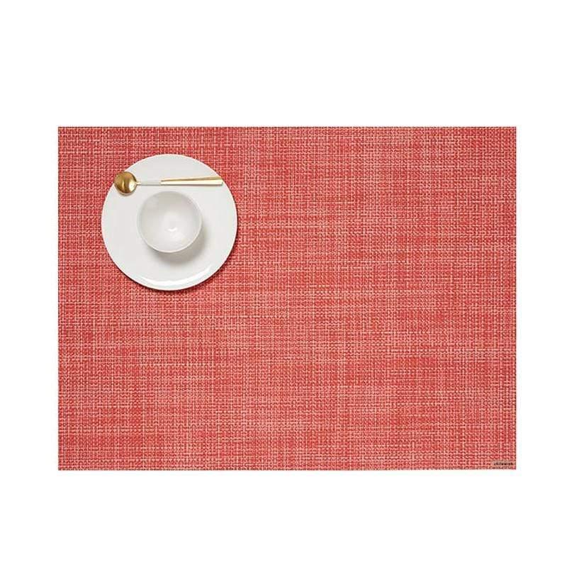 美國Chilewich餐墊-36×48cm細網紋系列(番石榴紅)四入組