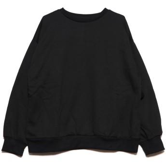 ジーラ GeeRA 【WEB限定】バックフリルスウェットトレーナー (ブラック)