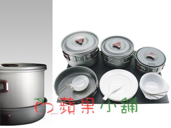 【【蘋果戶外】】犀牛 Rhino K-5【五人套鍋組】五人鋁合金套鍋,材質超輕,耐熱耐磨~ K5 餐具組 鍋碗盤匙