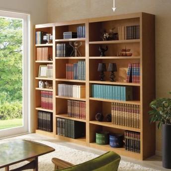 頑丈棚板がっちり書棚(頑丈本棚) ハイタイプ 幅90cmライトブラウン