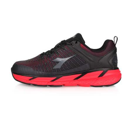 DIADORA 迪亞多那 男 專業避震慢跑鞋 寬楦 黑紅 DA71110