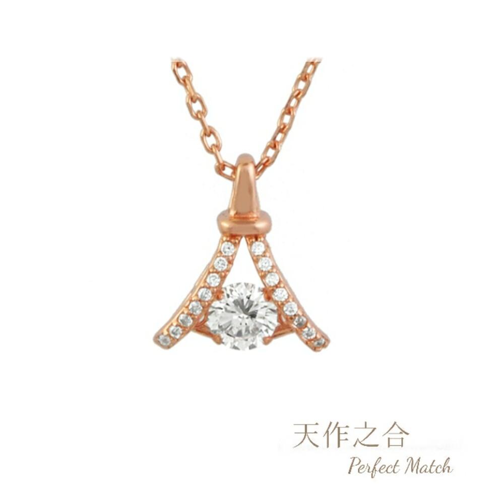 韓版時尚晶鑽-鐵塔 幸運項鍊 (s925純銀 抗過敏)