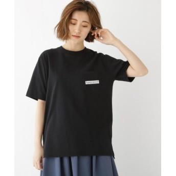 ベースステーション バック サークル ロゴ 半袖 Tシャツ レディース ブラック(019) 99(FREE) 【BASE STATION】