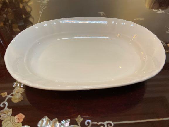 """純白陶瓷系列~  白瓷紋邊長盤8.25"""" 長型盤/盤子/白瓷/瓷盤/陶瓷餐具"""