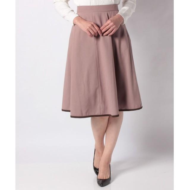 Rew de Rew パイピング裾フレアスカート(9R10 12142)(スモーキーピンク)【返品不可商品】