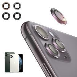 NISDA for iPhone 11 Pro Max 6.5吋 航太鋁鏡頭保護套環 9H鏡頭玻璃膜-一組含鏡頭環3個-銀