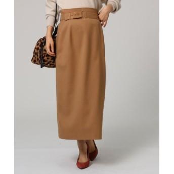 UNTITLED/アンタイトル ツイルベルテッドタイトスカート サンドベージュ(053) 01(S)