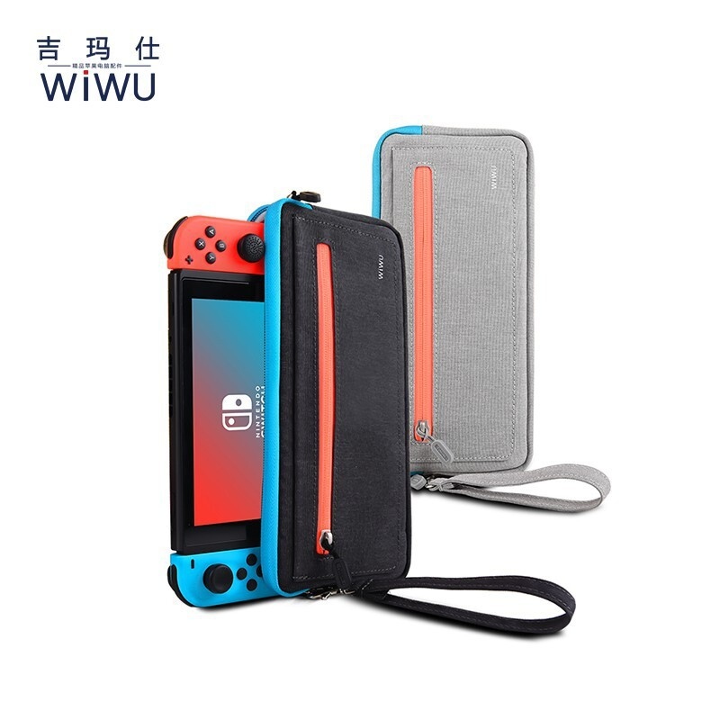 wiwu熱門款任天堂switch 保護包 遊戲機收納包 nintendo配件收納盒 硬殼