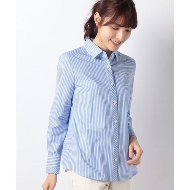 【ラ ジョコンダ】【洗える】マルチストライプシャツ