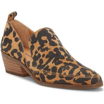 [ラッキーブランド] レディース ブーツ&レインブーツ Mahzan Leopard Print Suede Block Heel Sh [並行輸入品]