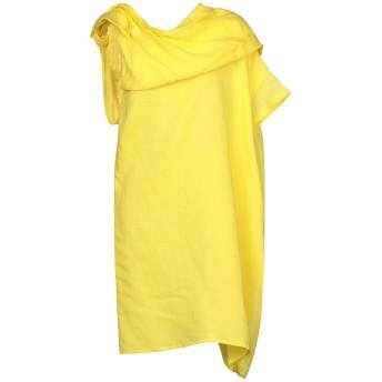 《セール開催中》COLLECTION PRIVE レディース 7分丈ワンピース・ドレス イエロー 40 ラミー 100%