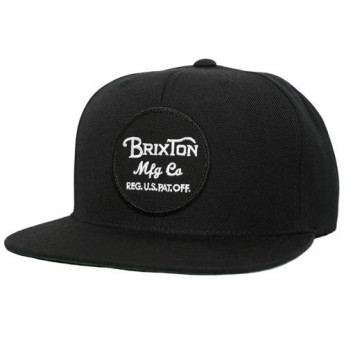 BRIXTON [ブリクストン] WHEELER SNAPBACK CAP スナップバックキャップ 00375 BLACK [並行輸入品]