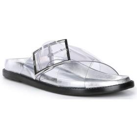 [シュッツ] レディース サンダル Trina Clear Buckle Detail Slide Sandals [並行輸入品]