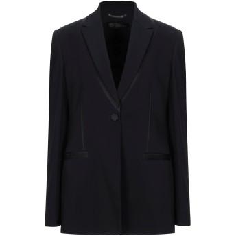 《セール開催中》VERSACE レディース テーラードジャケット ブラック 44 レーヨン 97% / ポリウレタン 3% / アセテート / シルク