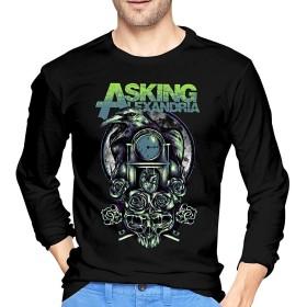 さくら物語 Asking Alexandria アスキングアレクサンドリア ロングスリーブ Tシャツ オールシーズン 長袖 ラウンドネック スポーツシャツ