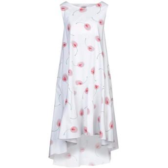 《セール開催中》OBL UNIQUE レディース 7分丈ワンピース・ドレス ホワイト XS コットン 75% / ナイロン 22% / ポリウレタン 3%