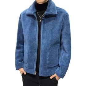 Glestore(グラストア)ボアジャケット メンズ フリースジャケット ボアブルゾン 秋冬 アウターコート もこもこ 防寒コート 冬 ゆったり