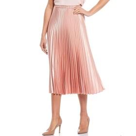 [アンクライン] レディース スカート Satin Pleated Midi Skirt [並行輸入品]