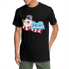 Frosty The Snowman Tシャツ 半袖 年寄る トップス スポーツ 丸首 夏服 S~6XL 柔らかい おしゃれ 男性