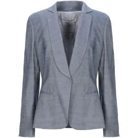 《セール開催中》GIORGIO ARMANI レディース テーラードジャケット ブルー 46 レーヨン 59% / コットン 28% / リネン 12% / ポリウレタン 1%