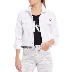 [カルバンクライン] レディース ジャケット・ブルゾン Jeans Trucker Raw Hem Denim Jacket [並行輸入品]