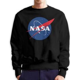 NASA 人気 トレーナー メンズ 長袖 男女兼用 プルオーバー おしゃれ カジュアル クルーネック スウェットシャツ 丸首 ストリート