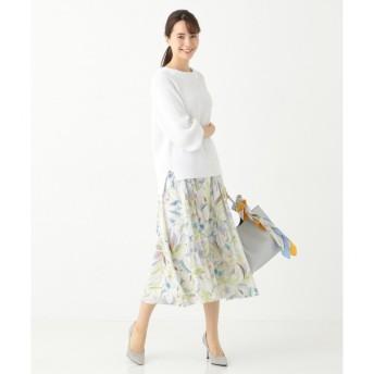 【ジユウク/自由区】 【洗える】チューリッププリント スカート