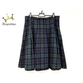 フランシュリッペ franchelippee スカート サイズFL5 レディース 美品 グリーン×ネイビー×黒   スペシャル特価 20200322