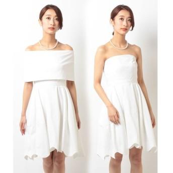 【フォルムフォルマ】【ウェディングドレス】2WAYショートウェディングドレス