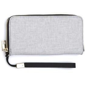 クラウドリネン1 財布レディース長財布大容量小銭入れクラッチバッグクレジットカードバッグジッパーPU財布ギフト