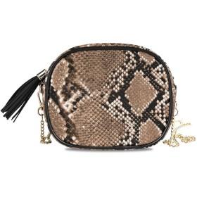 KAPANOU レディース チェーンバッグ,シームレスな繰り返し蛇皮パターンテクスチャ,ミニファッションかわいいデザインショルダーバッグパーソナライズされたカスタムの異なるスタイルの色