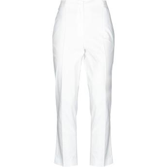 《セール開催中》LE COEUR TWINSET レディース パンツ ホワイト M コットン 97% / ポリウレタン 3% / ポリエステル
