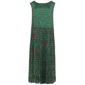 《セール開催中》ASPESI レディース ロングワンピース&ドレス グリーン 38 シルク 100%