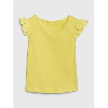 Gap アイレット フラッタースリーブTシャツ (幼児)