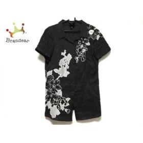 エスカーダ ESCADA 半袖シャツブラウス サイズ36 M レディース 黒×グレー 刺繍/SPORT 新着 20191226