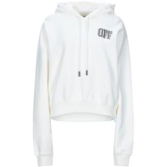 《セール開催中》OFF-WHITE レディース スウェットシャツ ホワイト M コットン 100%