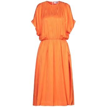 《セール開催中》MSGM レディース 7分丈ワンピース・ドレス オレンジ 40 レーヨン 100%