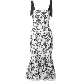 《セール開催中》RACHEL ZOE レディース 7分丈ワンピース・ドレス ホワイト 0 コットン 100% / レーヨン