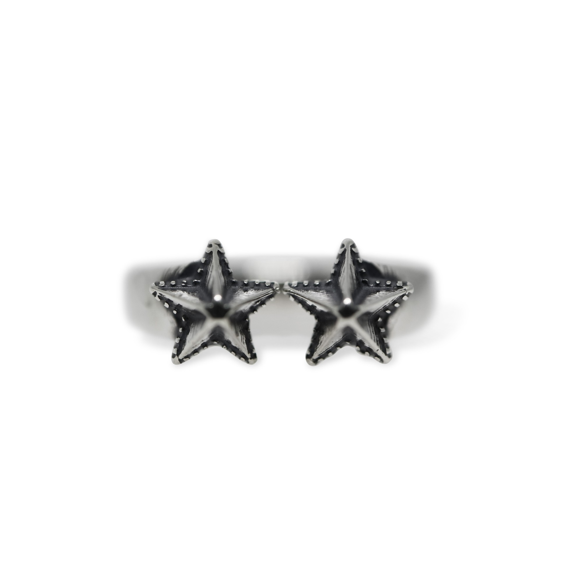 ADJUSTABLE HIGH POINT STAR RING [USD $460]