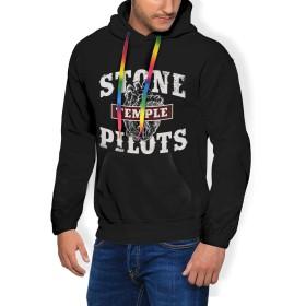 Stone Temple Pilots メンズ パーカー 長袖 原宿風 プルオーバー スウェット フード付 トップス 裏起毛 厚手 フーディーウェアパーカー 3Dプリント 秋冬着服 ゆったり スポーツウェア 男女兼用