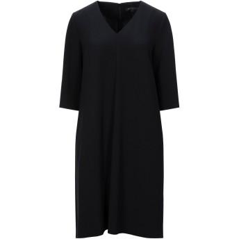 《セール開催中》ANTONELLI レディース ミニワンピース&ドレス ブラック 42 ポリエステル 94% / ポリウレタン 6%