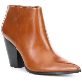 [不明] [カルバンクライン] レディース ブーツ&レインブーツ Ignazia Leather Block Heel Booties [並行輸入品]