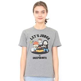 グラニフ(graniph) 【ユニセックス】コラボレーションTシャツ/レッツジャッジ(Bラッパーズストリート)【109ヘザー グレー/M】