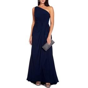 [アドリアナ パペル] レディース ワンピース One Shoulder Matte Jersey Draped Gown [並行輸入品]
